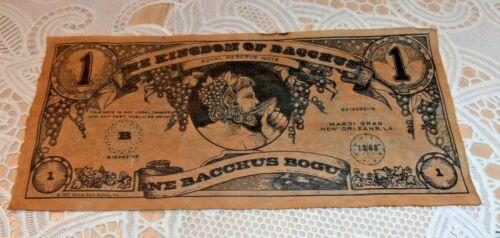 VINTAGE & RARE 1973 KREWE OF BACCHUS BOGUS MONEY MARDI GRAS OLD NEW ORLEANS