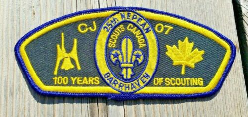 Scouts Canada 100 Years of Scouting CJ 07 25th Nepean Barrhaven Shoulder Patch