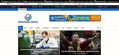 Automated Business Crypto News Website - Turnkey Profitable Site