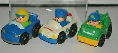 2009 Wheelies Fisher Price Mattel Little People Police Car Garbage Truck Racer