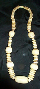 Antique Bone Necklace and 4 Bracelets