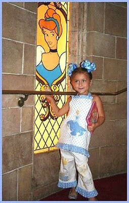 Custom Boutique Resell Girl's Disney Cinderella Outfit Pants and Halter Top Set (Custom Disney Outfits)