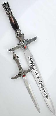 Egyptian Mummy Athame 2 Piece Set Dagger Ritual Wicca  Knife Celtic Druid Sword