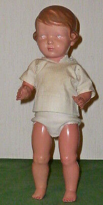 Alte SCHILDKRÖTPUPPE Schildkröt Puppe Inge 42cm PUPPEN DACHBODENFUND Doll Dolls