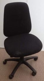 Fabric office chair.