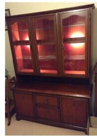 Dark wood wall cabinet