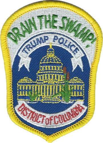 Drain The Swamp Trump Police DC Patch Hat Size JOKE