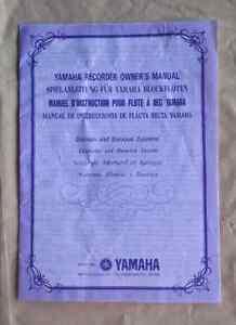 Yamaha Recorder Owner's Manual