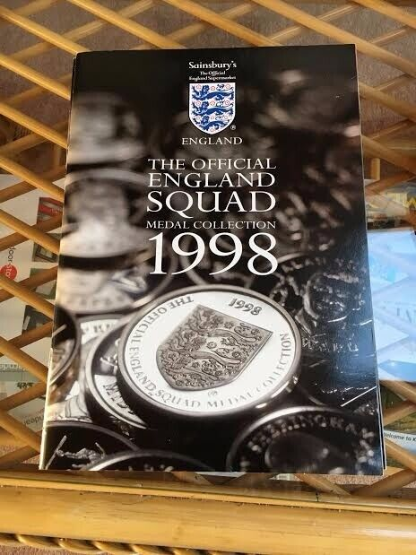 Official England World Cup Football Squad 1998 medal / coin collection (1  medal missing) | in Kilburn, London | Gumtree