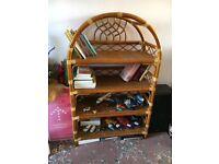 Stunning wicker shelf / bookshelf unit - perfect condition