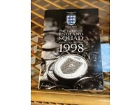 Official England World Cup Football Squad 1998 medal / coin collection (1 medal missing)