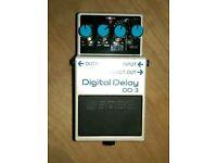 Boss DD-3 digital delay pedal guitar