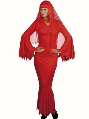 Ladies Red Vampire Lady Vamp fancy dress costume womens Halloween 12 14 ()