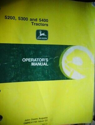 1992 John Deere 5200 5300 5400 Tractor Operators Maintenance Manual