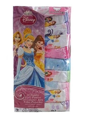 New Toddlers Girls Disney Princess 10 Panties Pack Underwear MultiColor 2T 3T 4T