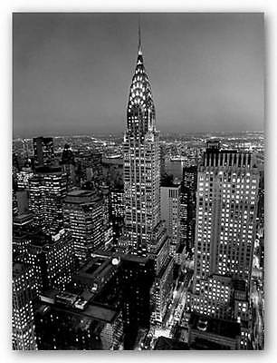 - CITYSCAPE ART PRINT Chrysler Building Henri Silberman