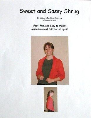 Great SHRUG knitting machine Pattern - EASY to make!