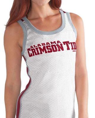 Alabama Tank (Alabama Crimson Tide Tank Top Womens Touchback Mesh Tank Top White G-III NCAA)