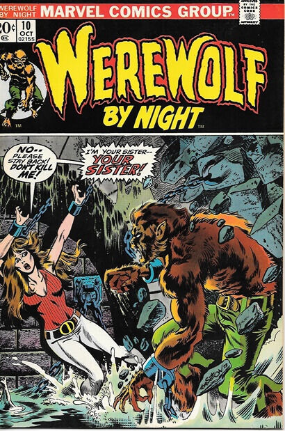 Werewolf By Night Comic Book #10, Marvel Comics 1973 VERY FINE/NEAR MINT