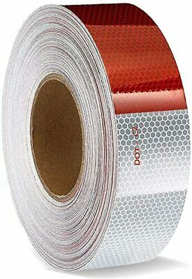 2x150 Dot-c2 Premium Reflective Red And White Conspicuity Tape Trailer Usa