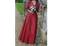 2 Beautiful Hand Made Bridesmaids Dresses with embroidered jackets for sale