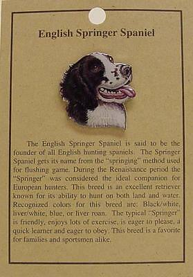 ENGLISH SPRINGER SPANIEL  DOG HAT PIN LAPEL PINS
