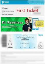 3 x Seated Ed Sheeran Concert Tickets Sunday 06/12/15 Melbourne City North Canberra Preview