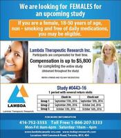 Looking for Females for an upcoming Study