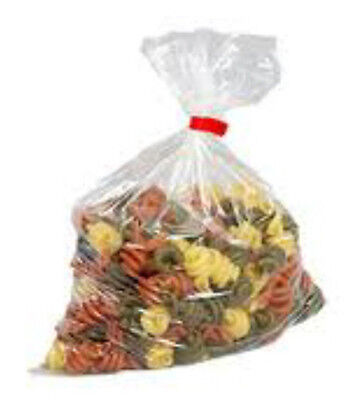 250 Large Clear Polythene Plastic Bags 18x24