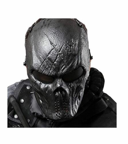 Coxeer Tactical Airsoft Mask Overhead Skull Outdoor Hunting Cs War Game Black