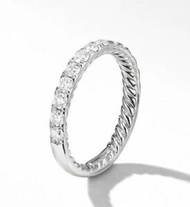 David Yurman - Diamond and platinum wedding band