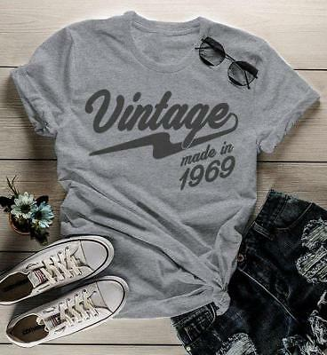 Women's Vintage T Shirt 1969 Birthday Made In Shirt 50th Birthday Tee Retro Gift - Birthday T Shirts