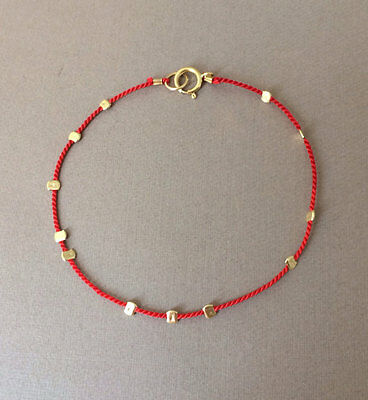 Gold Bead Silk String Bracelet also in Sterling Silver and Rose Gold Fill Beaded Rose Gold Bracelet
