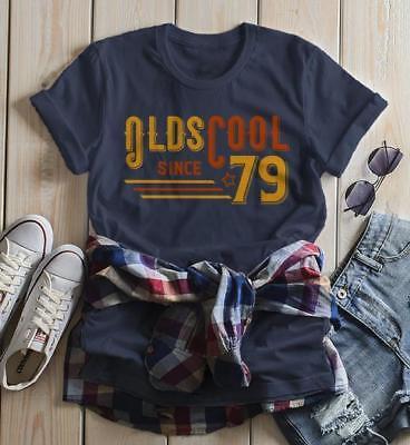 Women's Vintage T Shirt 1979 Birthday Shirt Olds Cool 40th Birthday Tee Retro Gi