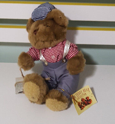 NICK THE NEWSBOY TEDDY BEAR COLLECTION PLUSH TOY KIDS SOFT TOY ABOUT 18CM SEATED