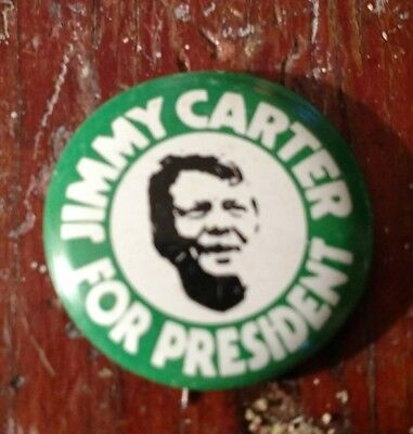 1976 JIMMY CARTER US Presidential Campaign Button President Pin-back PLAINS, GA