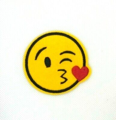 Heart Eyes Emoji Patch: Iron On Patches, Cute Patches, Jacket Patches, Gift 260