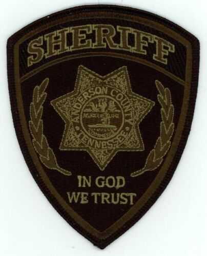 ANDERSON COUNTY SHERIFF TENNESSEE TN SUBDUED NEW PATCH SHERIFF