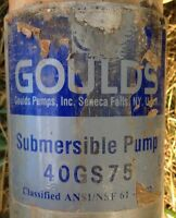 "GOULDS WATER PUMP - This is a 4"" SUBMERSIBLE 40GS75"