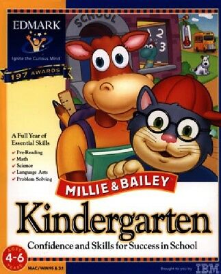 Millie and Bailey Kindergarten Pc Mac New Cd Rom In Paper Sleeve (Bailey Paper)