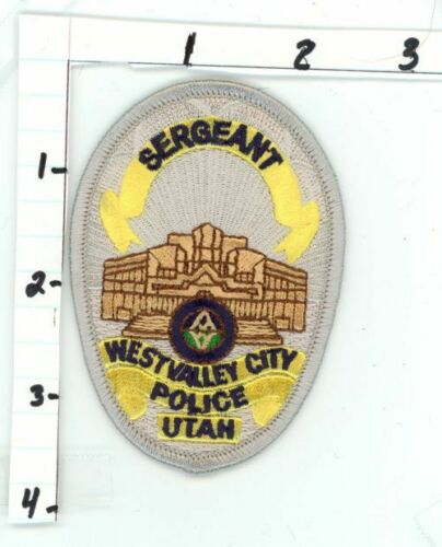 WEST VALLEY CITY POLICE SERGEANT UTAH UT NEW COLORFUL PATCH SHERIFF