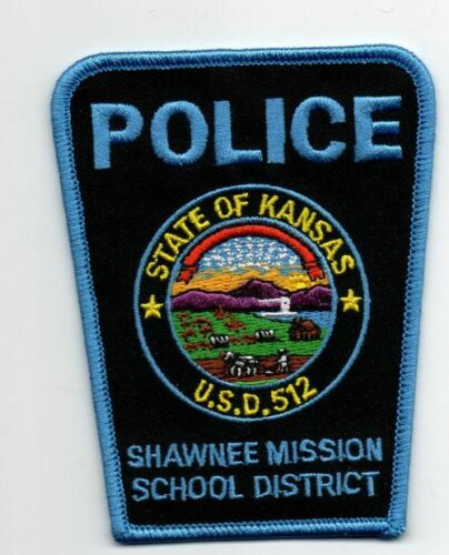 KANSAS KS SHAWNEE MISSION SCHOOL DISTRICT POLICE NEW PATCH SHERIFF