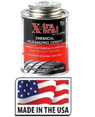 Cold Vulcanizing Rubber Cement Tire Repair 8oz can wheel Bicycle Patch Plug Glue