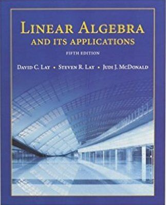 4Days Delivery  Linear Algebra And Its Applications By David C  Lay  5Th Ed