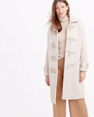 NWT JCREW COLLECTION WOMENS MOHAIR DUFFLE COAT SIZE12 E4752