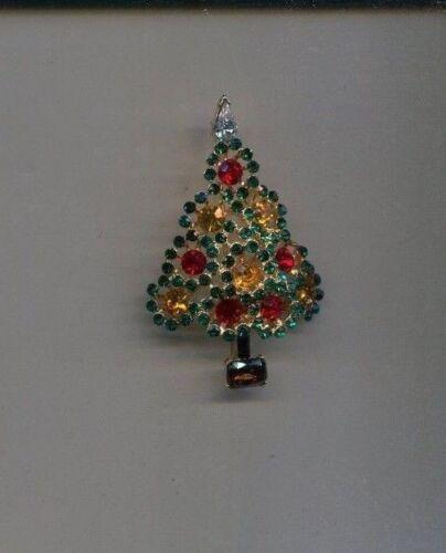 RAFAELIAN MULTI  CHRISTMAS TREE  PIN  vintage