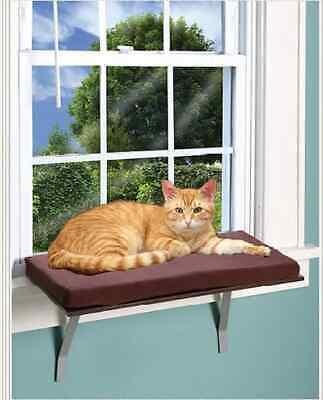 Kitty Sill Cat Window Perch Pet Seat Bed Indoor Mount Shelf Bolster Kitten Sleep ()