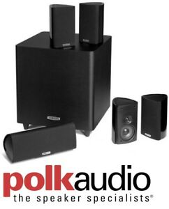 NEW POLK AUDIO RM705 5.1 CHANNEL HOME THEATRE SYSTEM (SET OF 6,