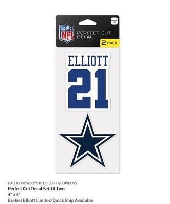 Ezekiel Elliott Dallas Cowboys 2 Aufkleber Decal Badge Emblem NFL Football ()
