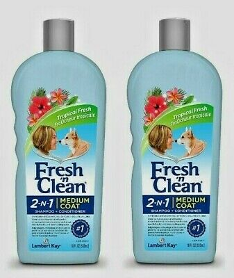 PetAg Fresh'n Clean 2-in-1 MEDIUM COAT Shampoo and Conditioner for Dogs 18oz NEW Fresh N Clean Dog Shampoo